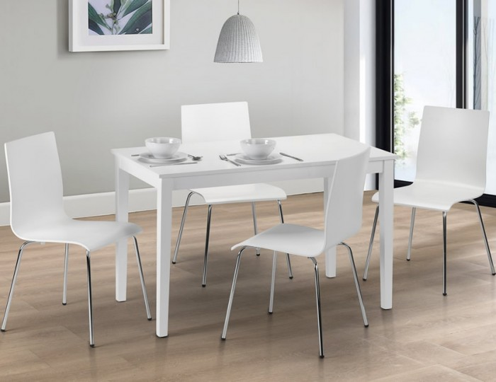 Claydon White Dining Table and Chairs