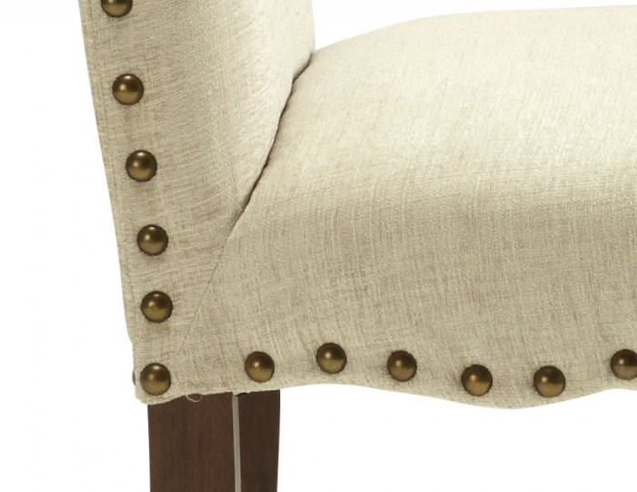 Brompton Pearl Fabric and Walnut Dining Chairs