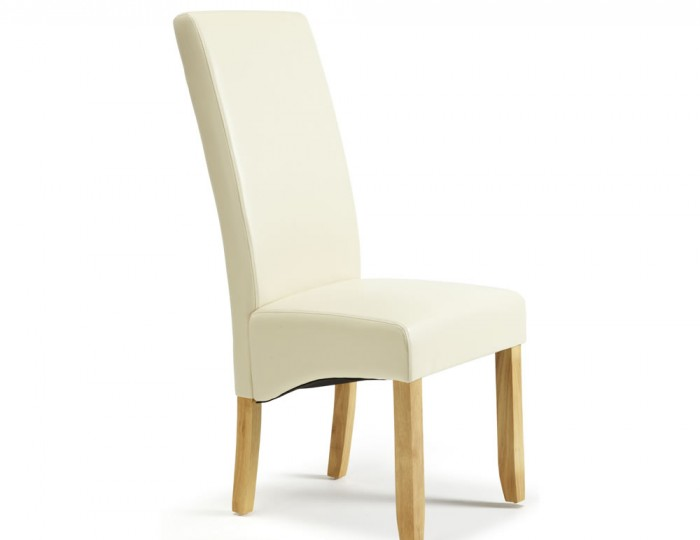 room furniture dining chairs benches rushton cream faux leather