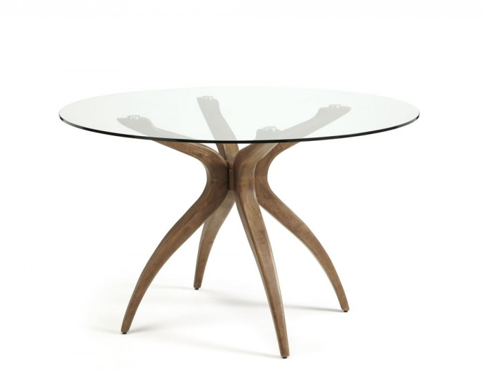Adelaide Round Glass and Walnut Dining Table Frances Hunt : 112551 from www.franceshunt.co.uk size 700 x 540 jpeg 25kB