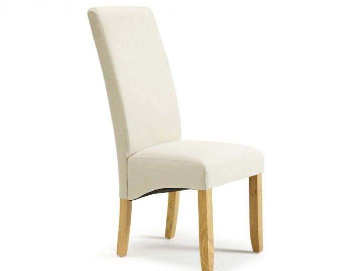 Buxton Putty Fabric and Oak Dining Chairs