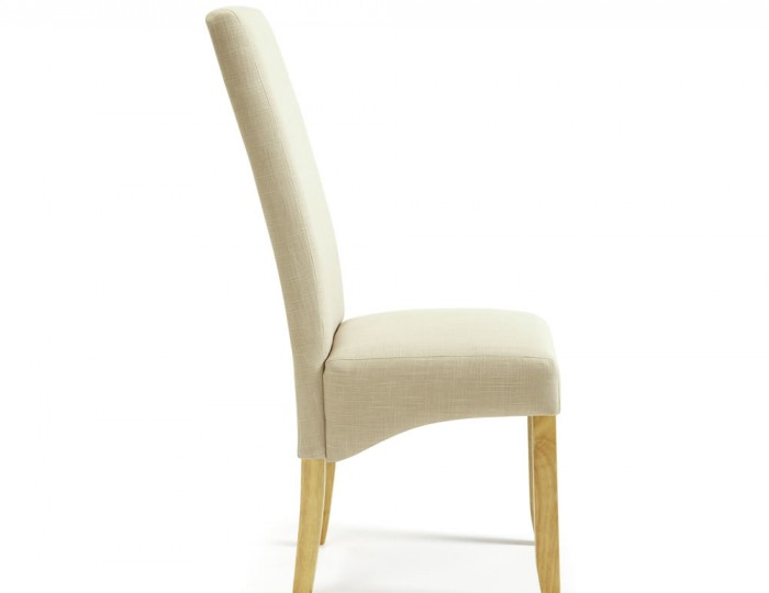 Buxton Stone Fabric and Oak Dining Chairs