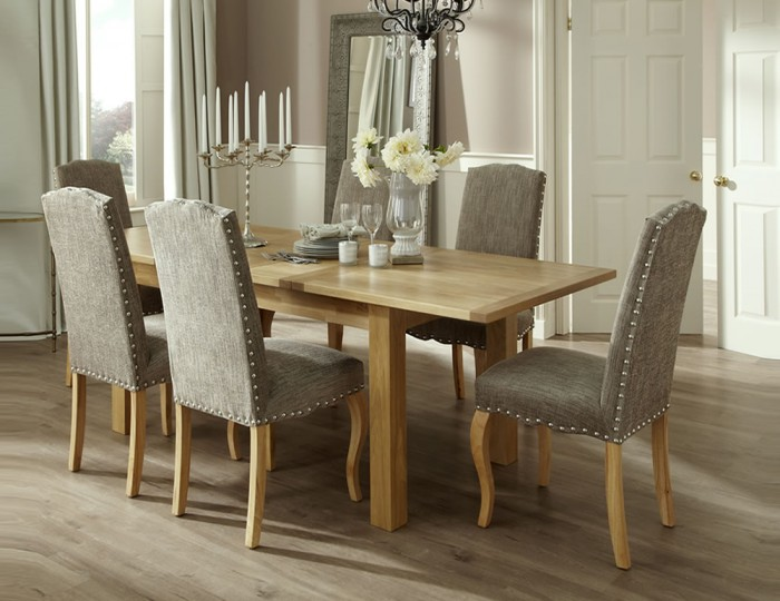Brompton Oak Extending Dining Table and Chairs