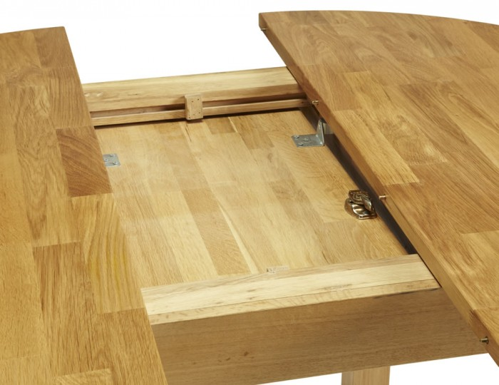 Haycroft Oak Round Extending Dining Table
