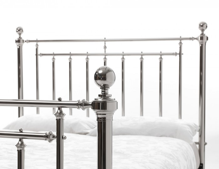 Solomon Nickel Metal Bed Frame