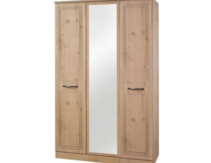 Henlow 3 Door Mirrored Wardrobe