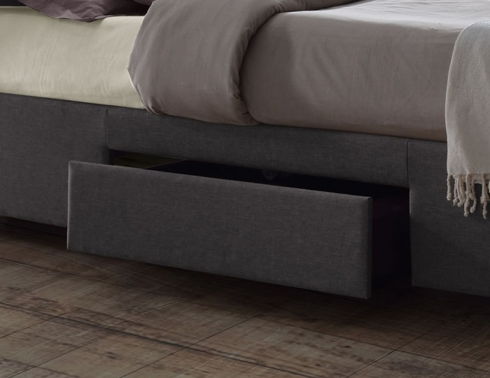 Bravo Grey Upholstered Bed Frame