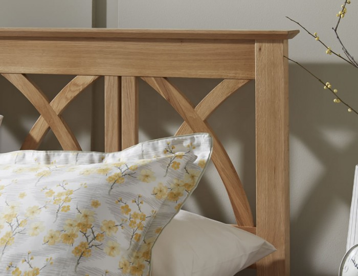 Faith Oak Bed Frame