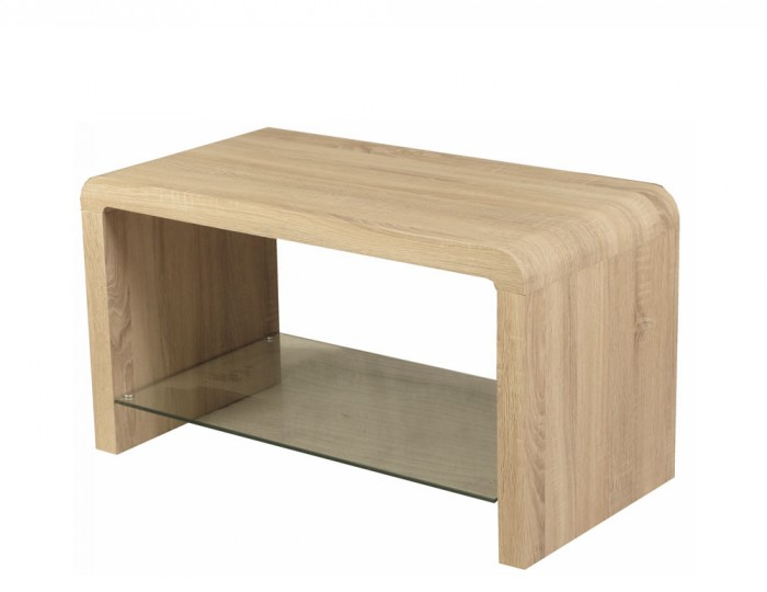 Deloro Oak and Glass Coffee Table