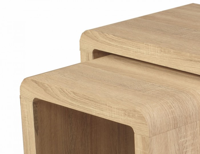 Deloro Oak Nest of Tables