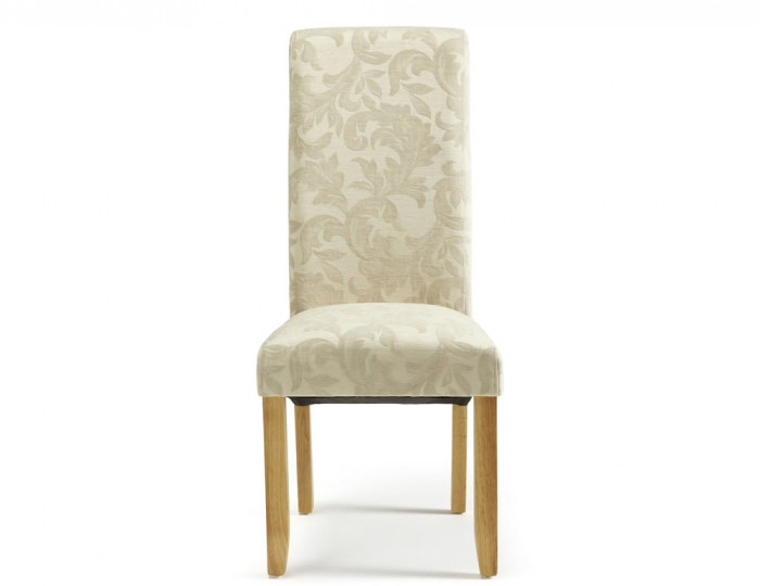 Haycroft Cream Floral and Oak Dining Chairs