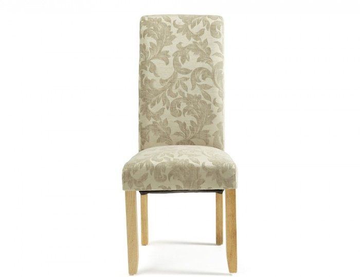 Haycroft Sage Floral and Oak Dining Chairs