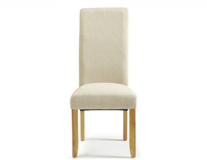 Haycroft Cream Fabric and Oak Dining Chairs