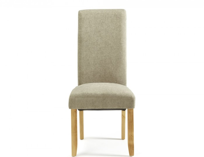Haycroft Sage Fabric and Oak Dining Chairs