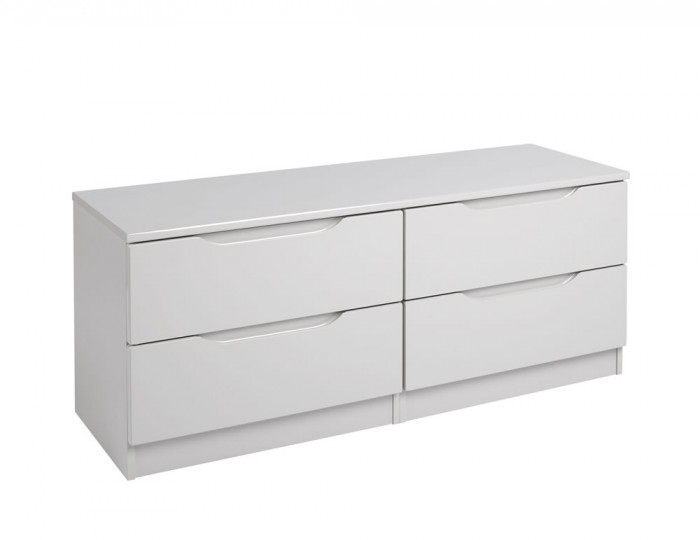 Safara 4 Drawer Bed Box Cashmere High Gloss Chest