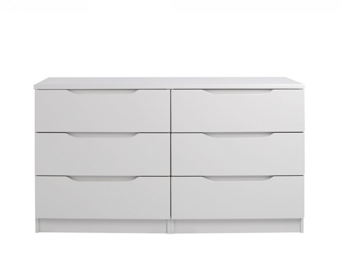 Safara 6 Drawer Cashmere High Gloss Chest