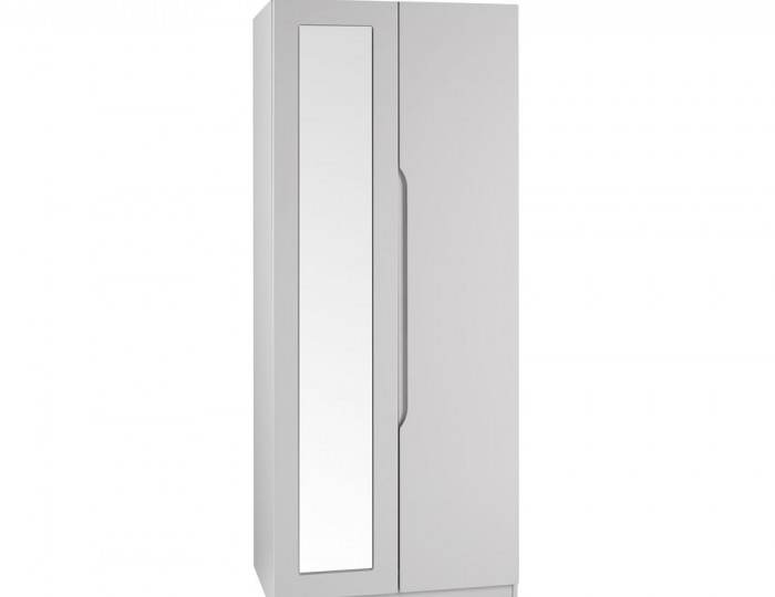 Safara 2 Door Cashmere High Gloss Wardrobe
