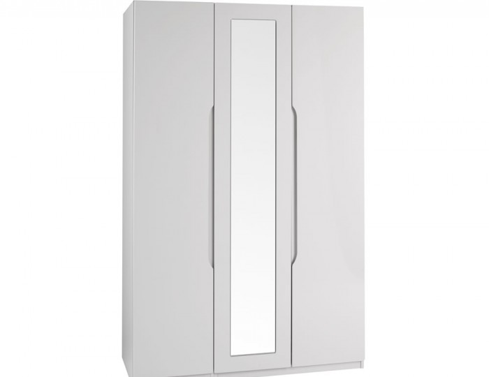 Safara 3 Door Cashmere High Gloss Wardrobe