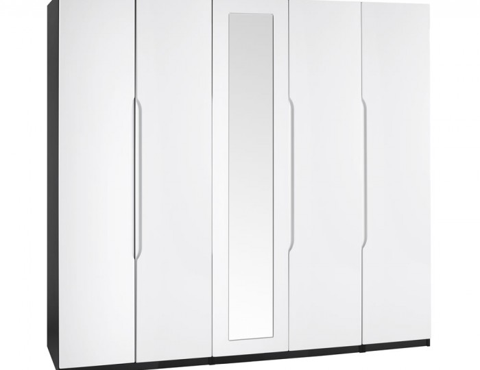 Vogue 5 Door Tall High Gloss Wardrobe