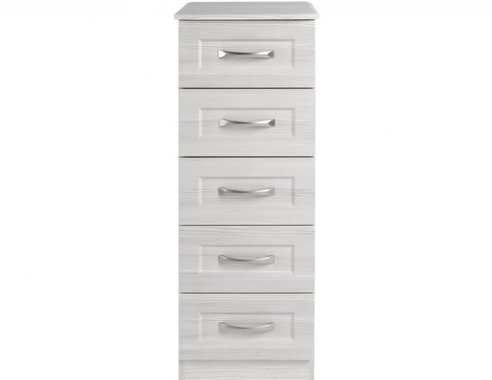 Alonzo White Avola 5 Drawer Tallboy Chest