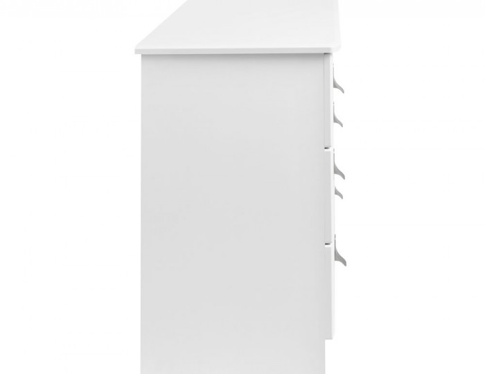 Sigrid White 6 Drawer Wide Chest