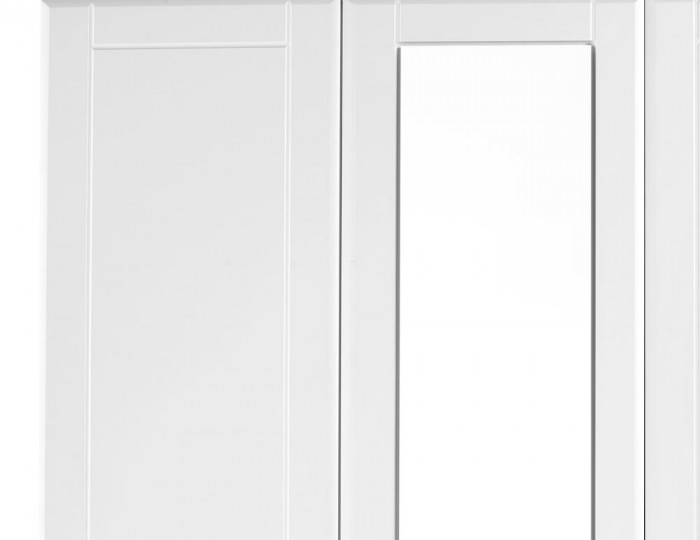 Sigrid White 3 Door Wardrobe