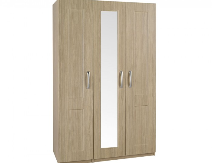 Alonzo Oak Tall 3 Door Wardrobe