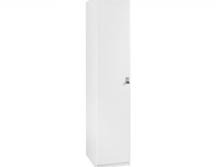 Sigrid White 1 Door Tall Wardrobe