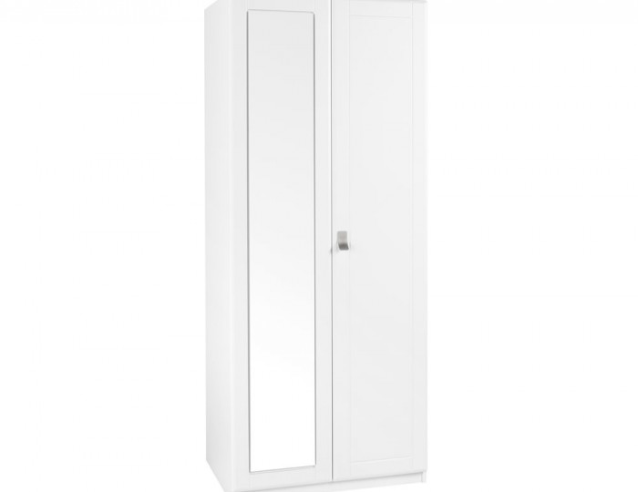 Sigrid White 2 Door Tall Wardrobe