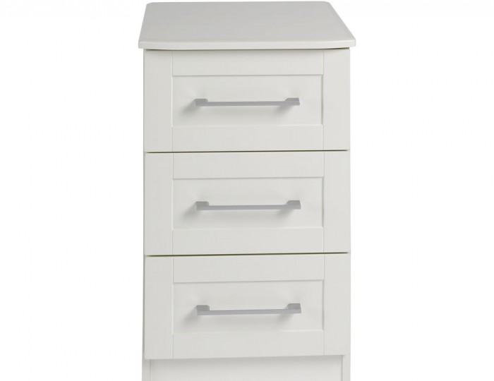 Marcello Cream 3 Drawer Bedside Chest