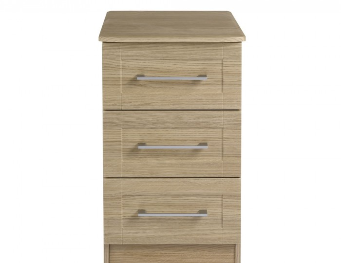 Marcello Oak 3 Drawer Bedside Chest
