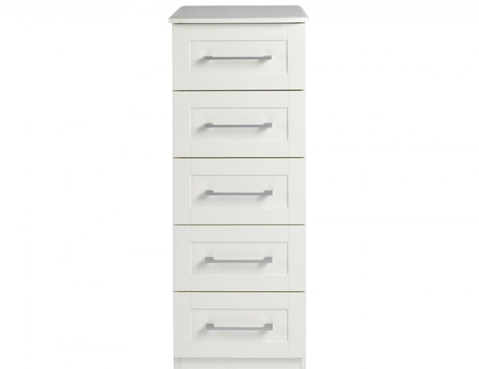 Marcello Cream 5 Drawer Tallboy Chest