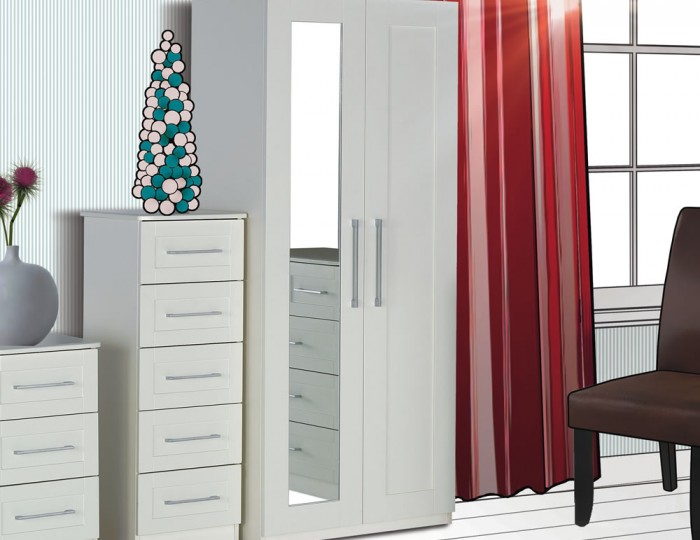 Marcello Cream 2 Door Wardrobe