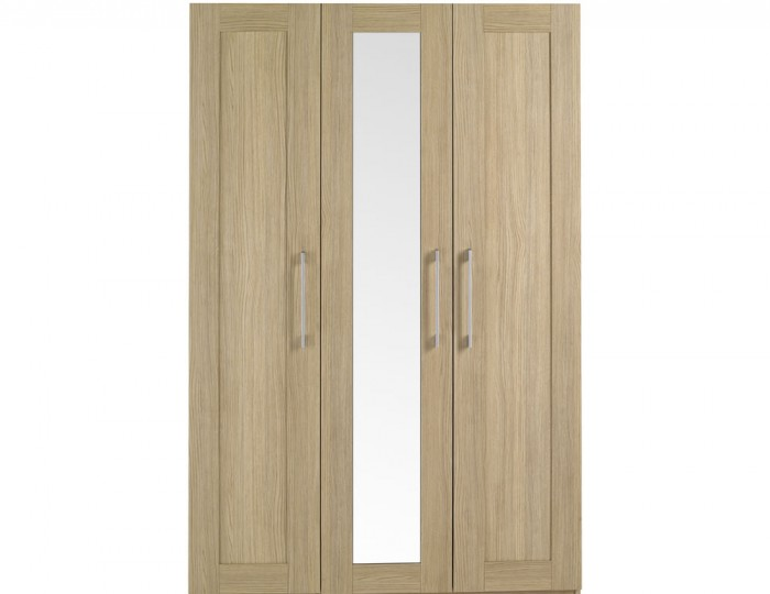 Marcello Oak 3 Door Wardrobe
