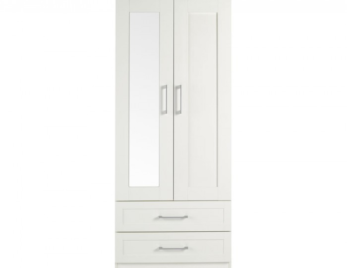 Marcello Cream 2 Door 2 Drawer Wardrobe