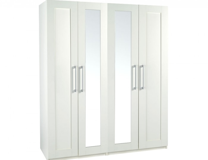 Marcello Cream 4 Door Tall Wardrobe