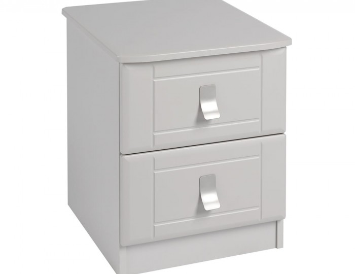 Sigrid Cashmere 2 Drawer Bedside Chest