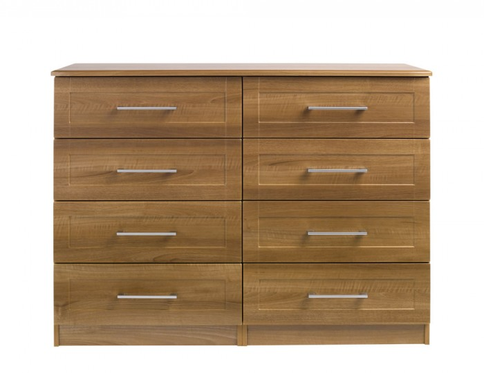 Marcello Walnut 8 Drawer Wide Chest