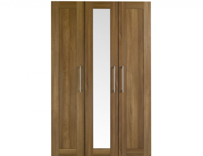 Marcello Walnut 3 Door Tall Wardrobe