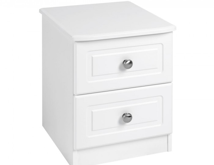 Toliara White 2 Drawer Bedside Chest