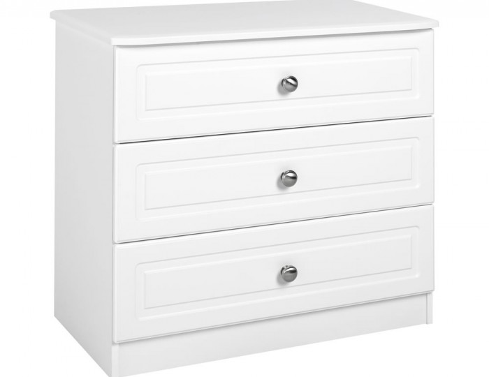 Toliara White 3 Drawer Chest