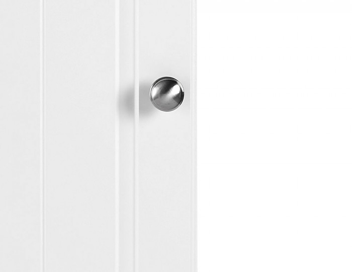 Toliara White 1 Door Tall Wardrobe