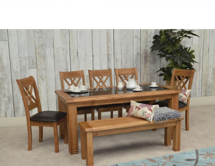 dining tables murray solid oak and granite large dining table and