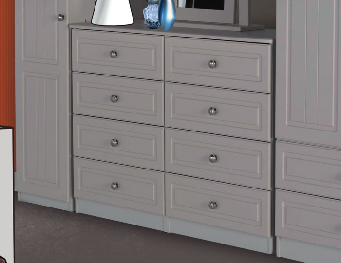 Toliara Cashmere 8 Drawer Wide Chest