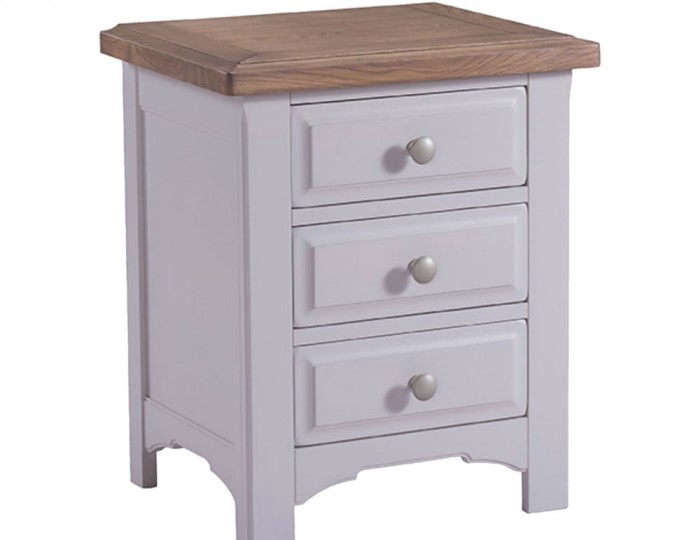 Everette Two-Tone 3 Drawer Bedside Chest