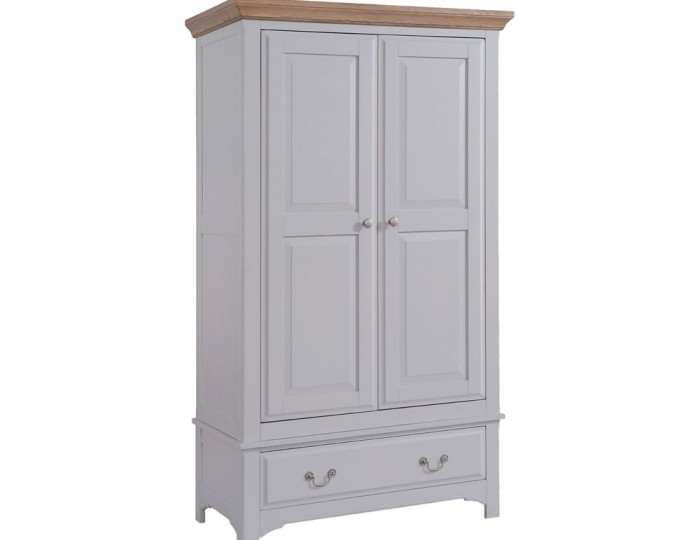 Everette Two-Tone 2 Door 1 Drawer Wardrobe