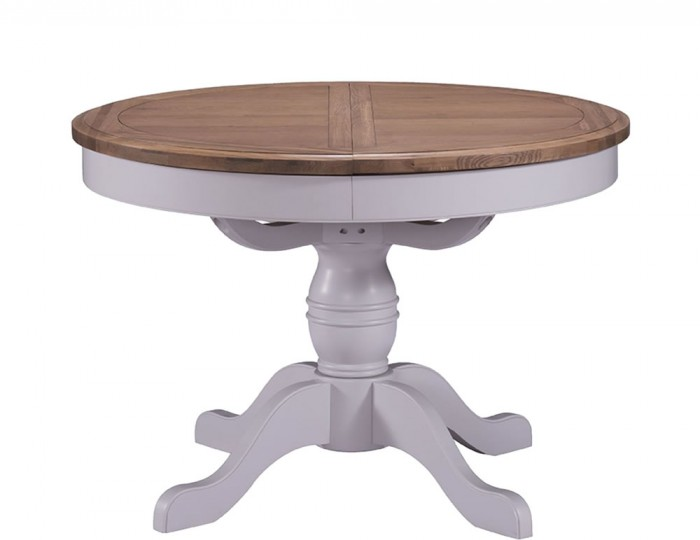 extending dining tables everette two tone round extending dining