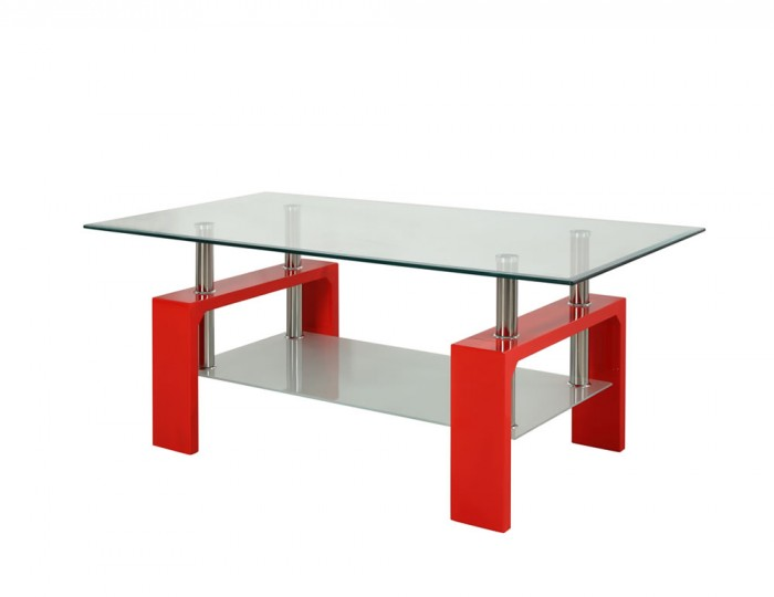 Living Room Furniture Coffee Tables Speight Red Glass Coffee Table