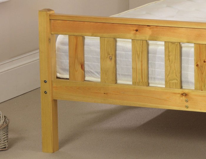 Shaker Pine High Foot End Bed Frame