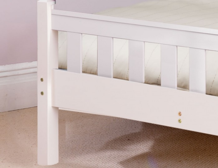 Shaker White High Foot End Bed Frame